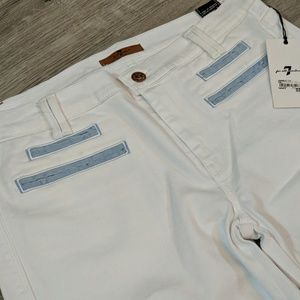 7 For All Mankind Jeans - 7 For All Man Kind white flare jeans size 32 NWT